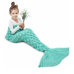 Other - Teal mermaid crochet blanket
